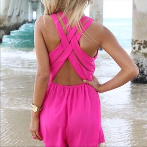 Sabo skirt hot pink romper